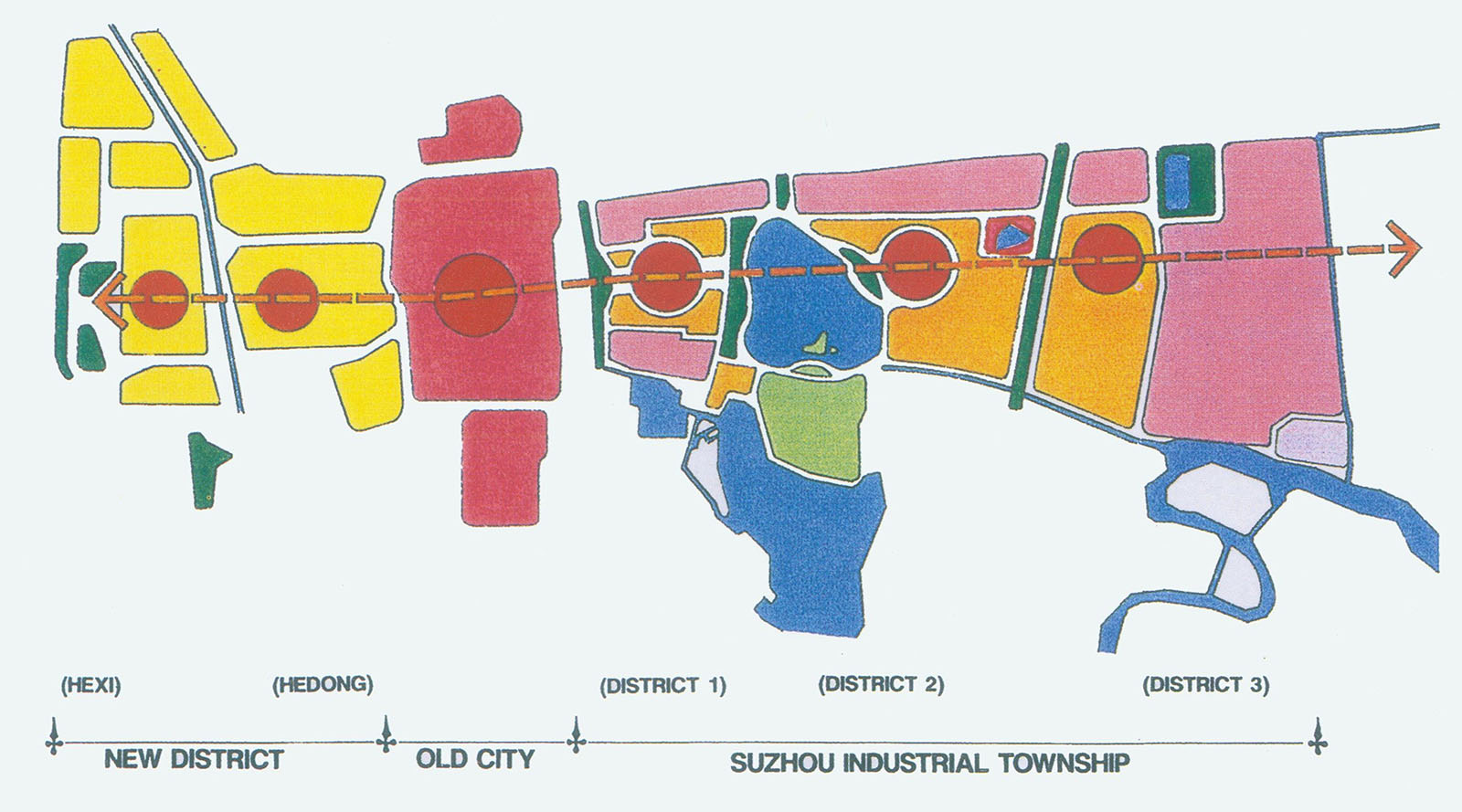 Concept plan map of Suzhou