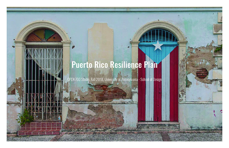 Puerto Rico Resilience Plan Cover