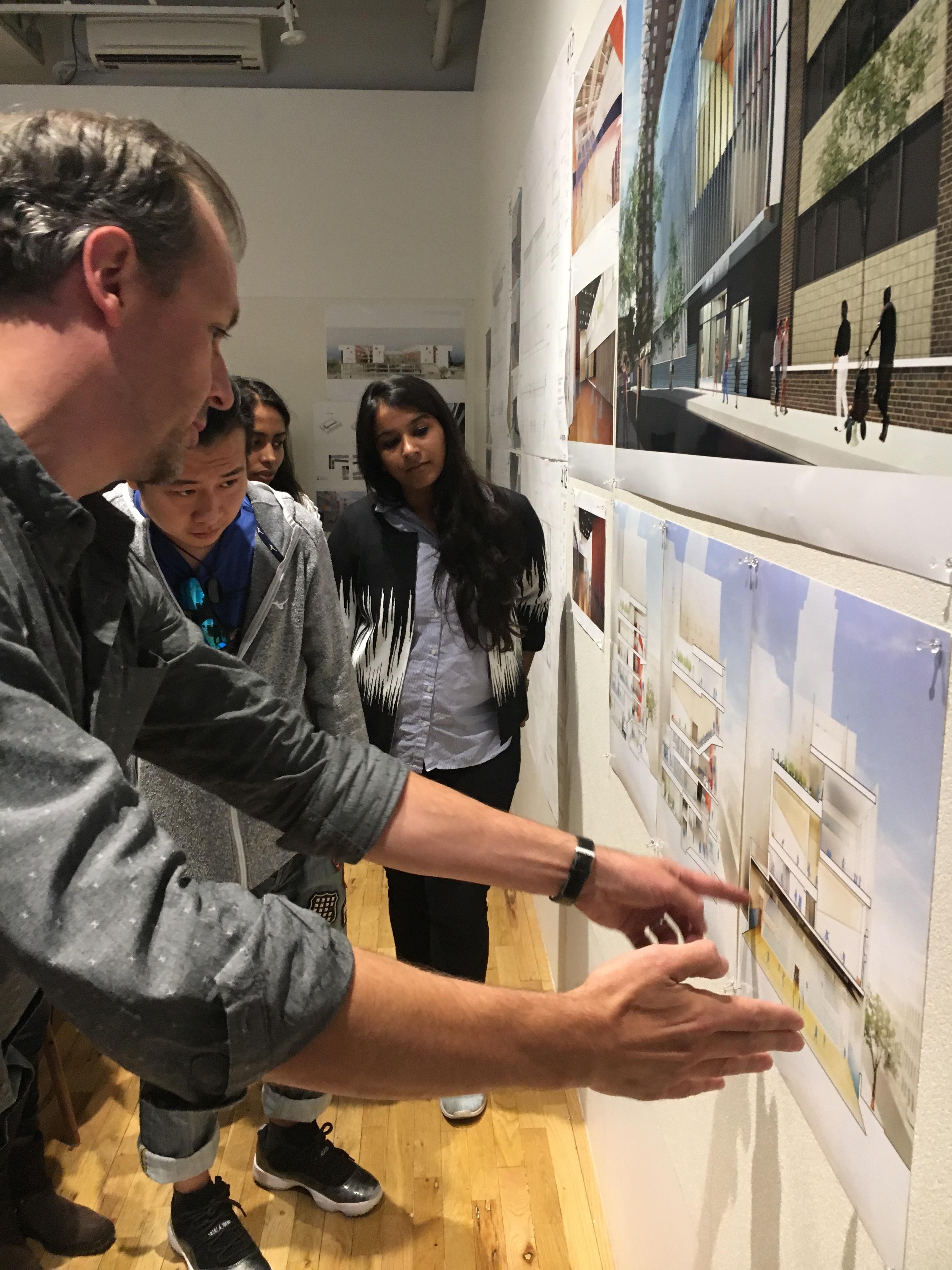 Students receiving instruction in Externship program