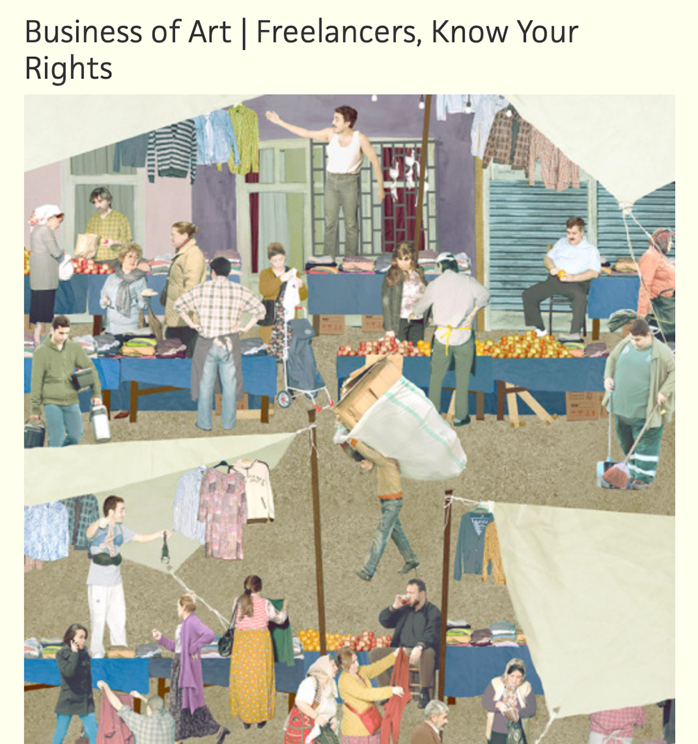 """Poster for """"Business of art 