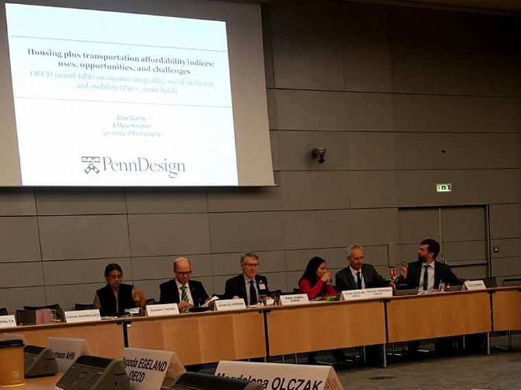 Panel speaking at OECD