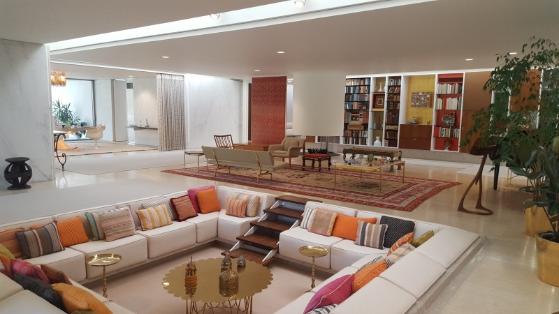 The Conversation Pit And Living Room In The Miller House, Designed By Eero  Saarinen And