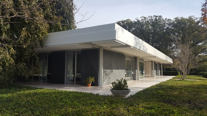 The Miller House In Columbus, IN, Designed By Eero Saarinen And Completed  In 1957