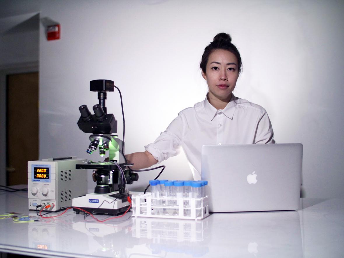 Ani Liu in lab