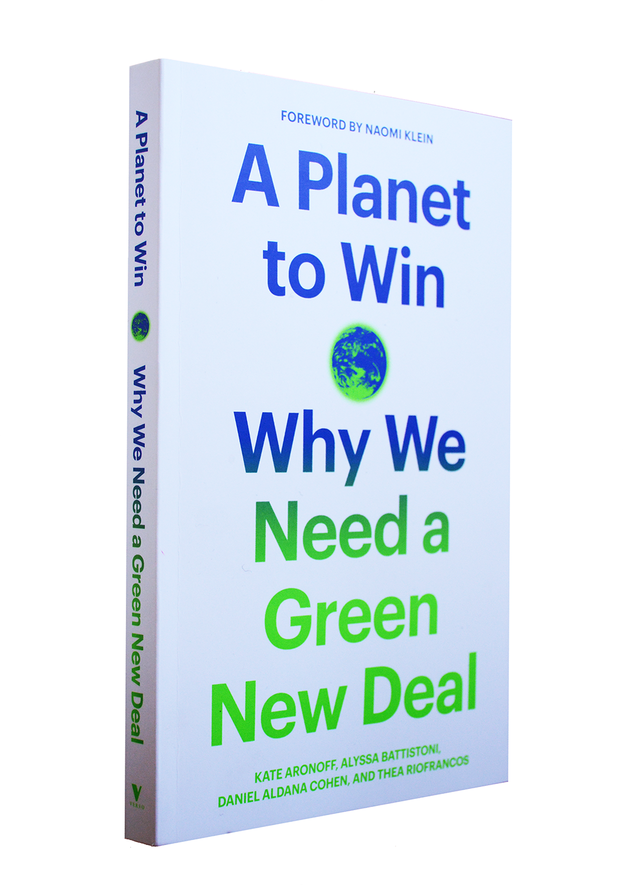 """Book cover for """"A Planet to Win: Why We Need a Green New Deal"""""""