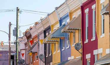 Colorful Row Homes