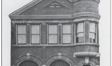 B&W photo of Maxfield fire house