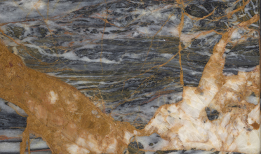 Black and gold marble slab