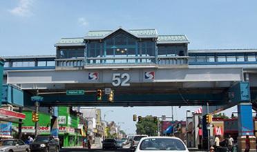 SEPTA 52 Street Station crossing over a street