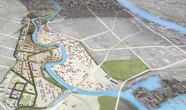 3D model of the Lower Schuylkill area.