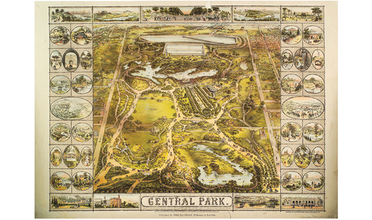 1863 illustration of New York Central Park