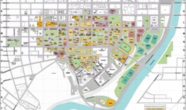 Map of UPenn campus with different types of buildings labeled.