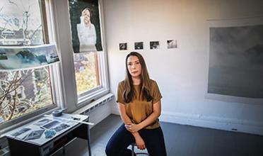 Amrita Stützle in her studio