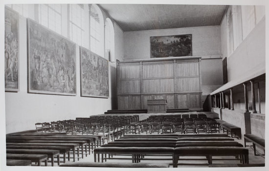 Old photograph of concert hall