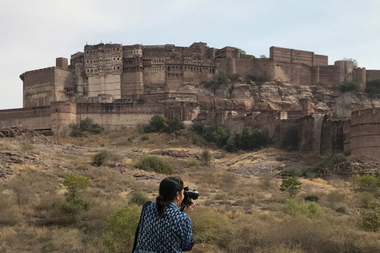 Person photographing Jodhpur Fort