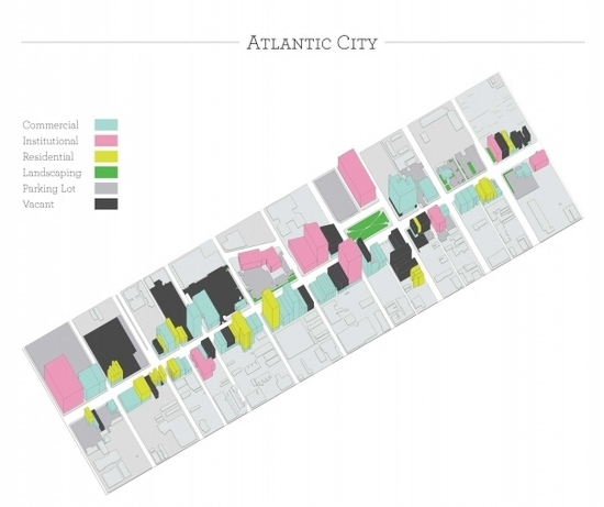 Map of section of Atlantic city.