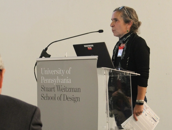 Amy Green presents her work to the conference attendees