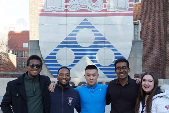 From left: Japhet Debrah, Anthony Ayebiahwe, Steven Chang, Neeraj Chandrasekar, and Sydney Judge