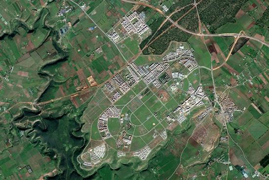 Satelite photo of urbanization in Morocco