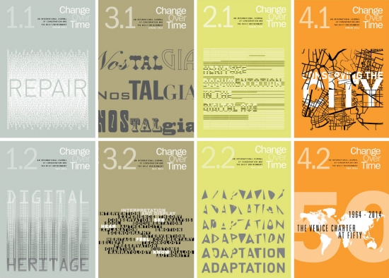 Covers for publication Change Over Time editions 1.1-4.2