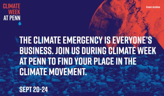 Climate Week at Penn September 20-24, 2021