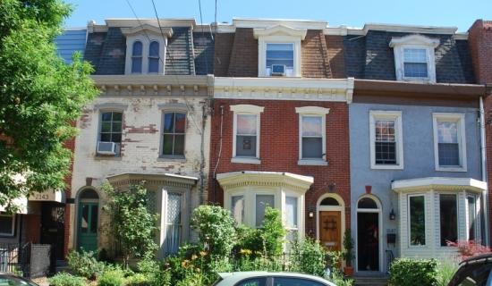 Row houses in Philadelphia