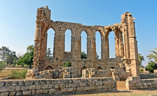 The ruins of the Church of St. George of the Latins, Famagusta