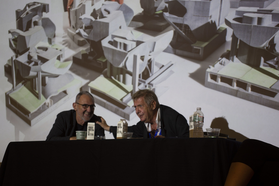 Thom Mayne and Wolf Prix in table discussion hosted by the Department of Architecture