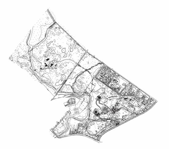 Map of Morris Arboretum.