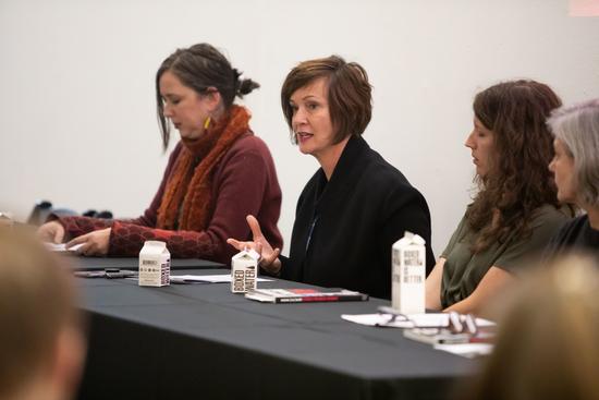 Winka Dubbeldam speaking in a panel discussion