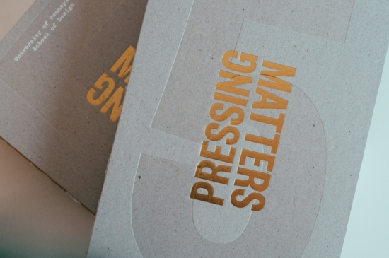 Two copies of pressing matters 5