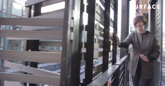 Dubbeldam leading Surface through one of her landmark buildings in a behind-the-scenes video tour.