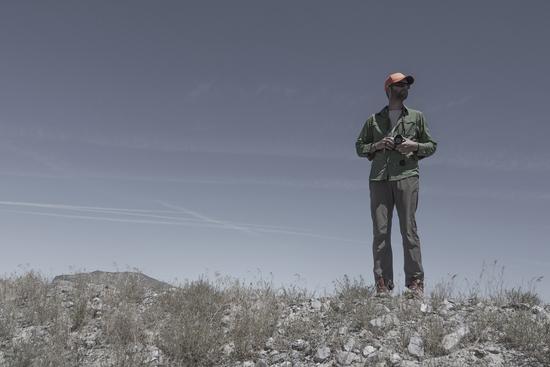 Sean Burkholder in a landscape