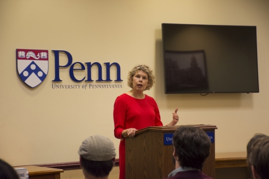 Lisa Servon at a book talk for Unbanking America: How the New Middle Class Survives