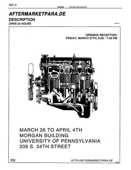 Flyer for exhibition