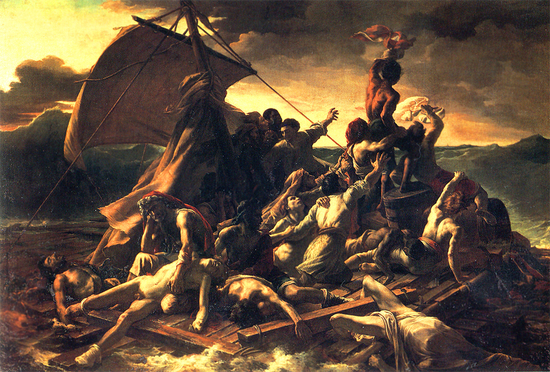 Reproduction of Théodore Géricault's 'Raft of the Medusa'