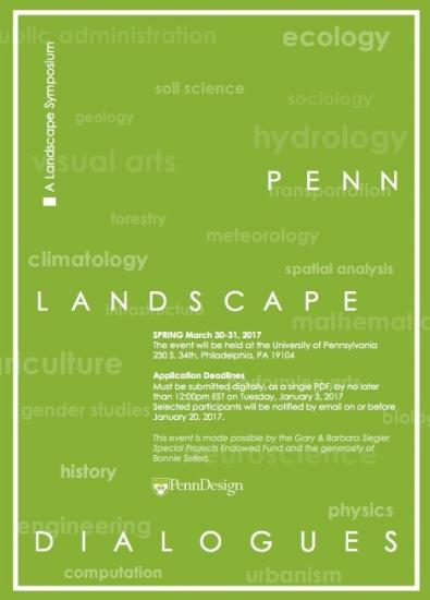 A Landscape Symposium. Penn Landscape Dialogues