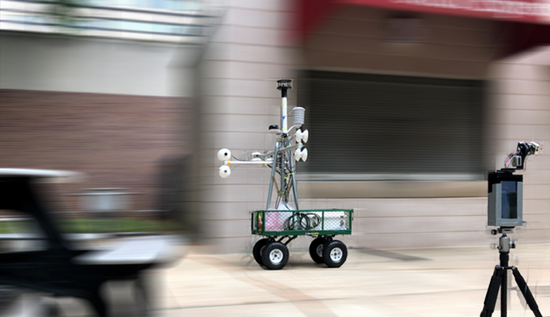 SMART Sensor and MaRTy Cart on Temple campus in Philadelphia