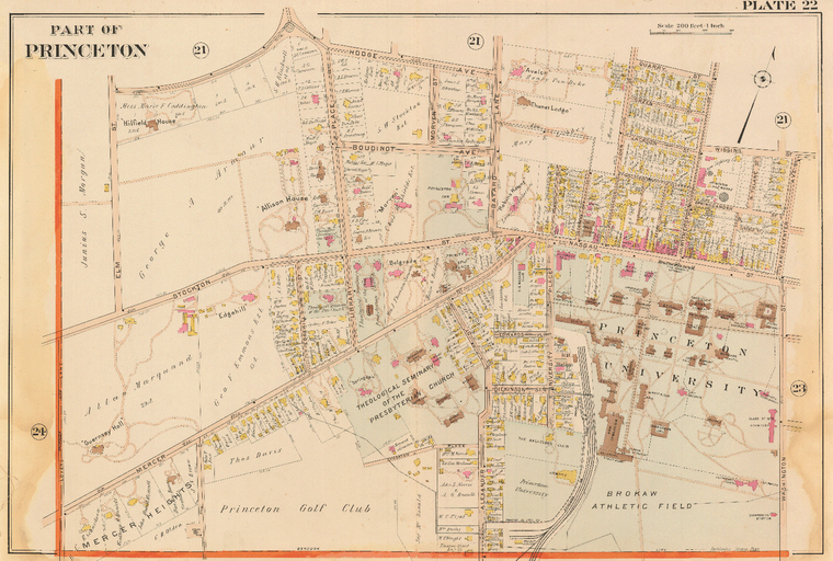 1905 map of Princeton NJ
