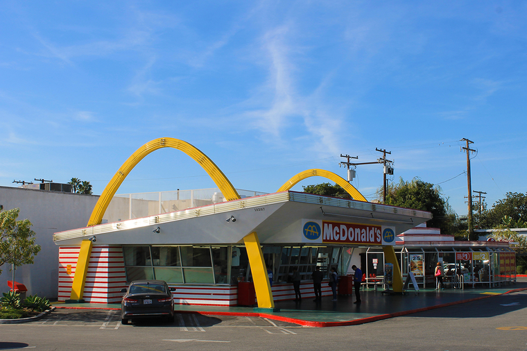 The country's oldest operating McDonald's. Downey, California