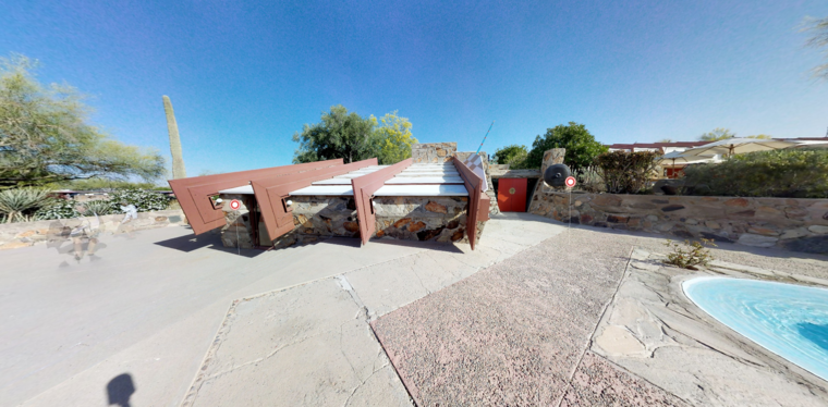 Exterior of Frank Lloyd Wright's Office at Taliesin west. Source: Frank Lloyd Wright Foundation website.