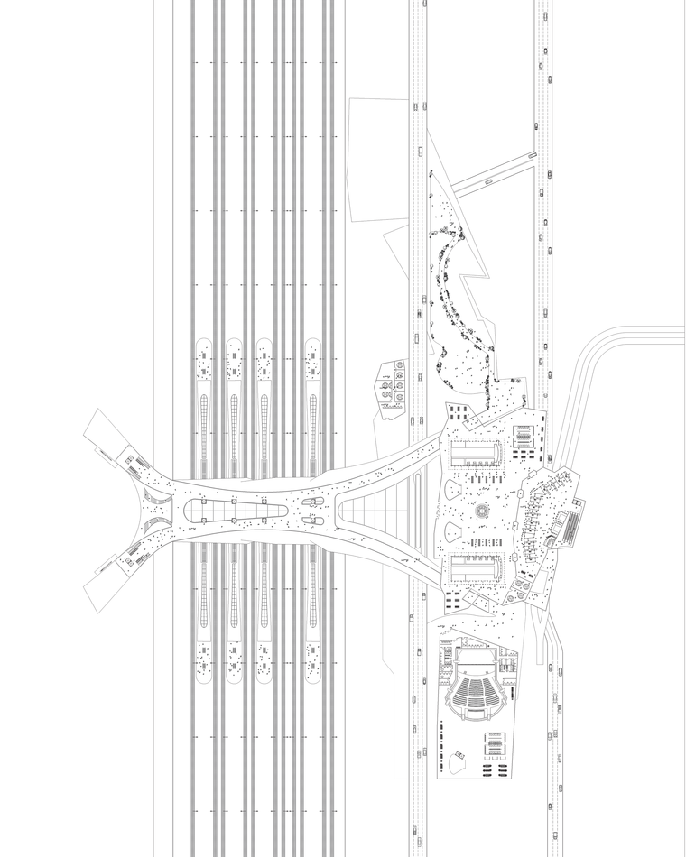 Floor Plan of the Newark Airport Transit Center and Headhosue
