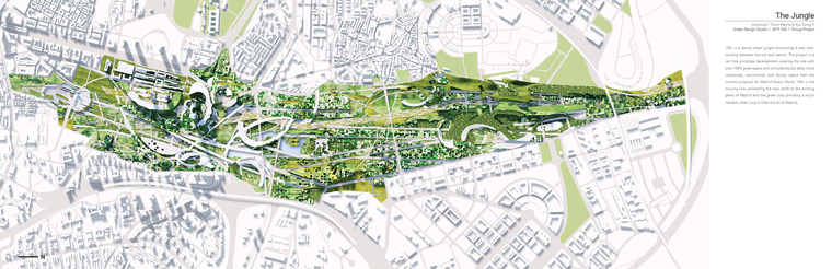 100+ is a dense urban jungle envisioning a new relationship between the city and nature.