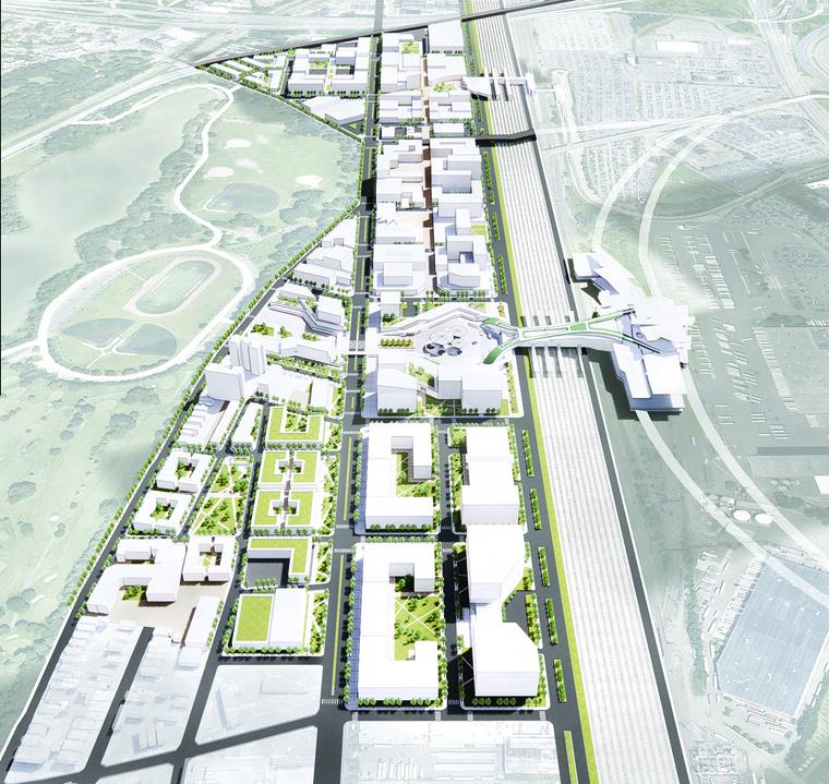 Rendering of proposed developement in Newark