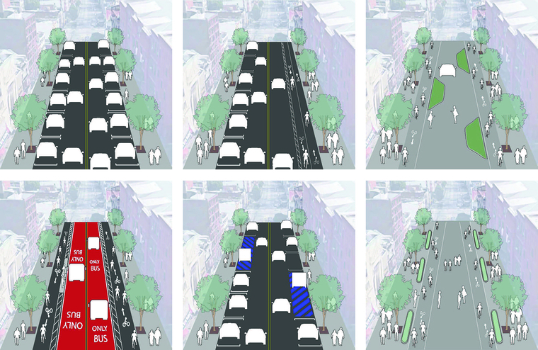 Graphic depiction of traffic density