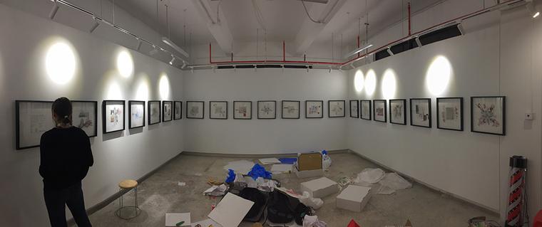 PennDesign's exhibition at the Shenzhen Biennale (installation in progress)