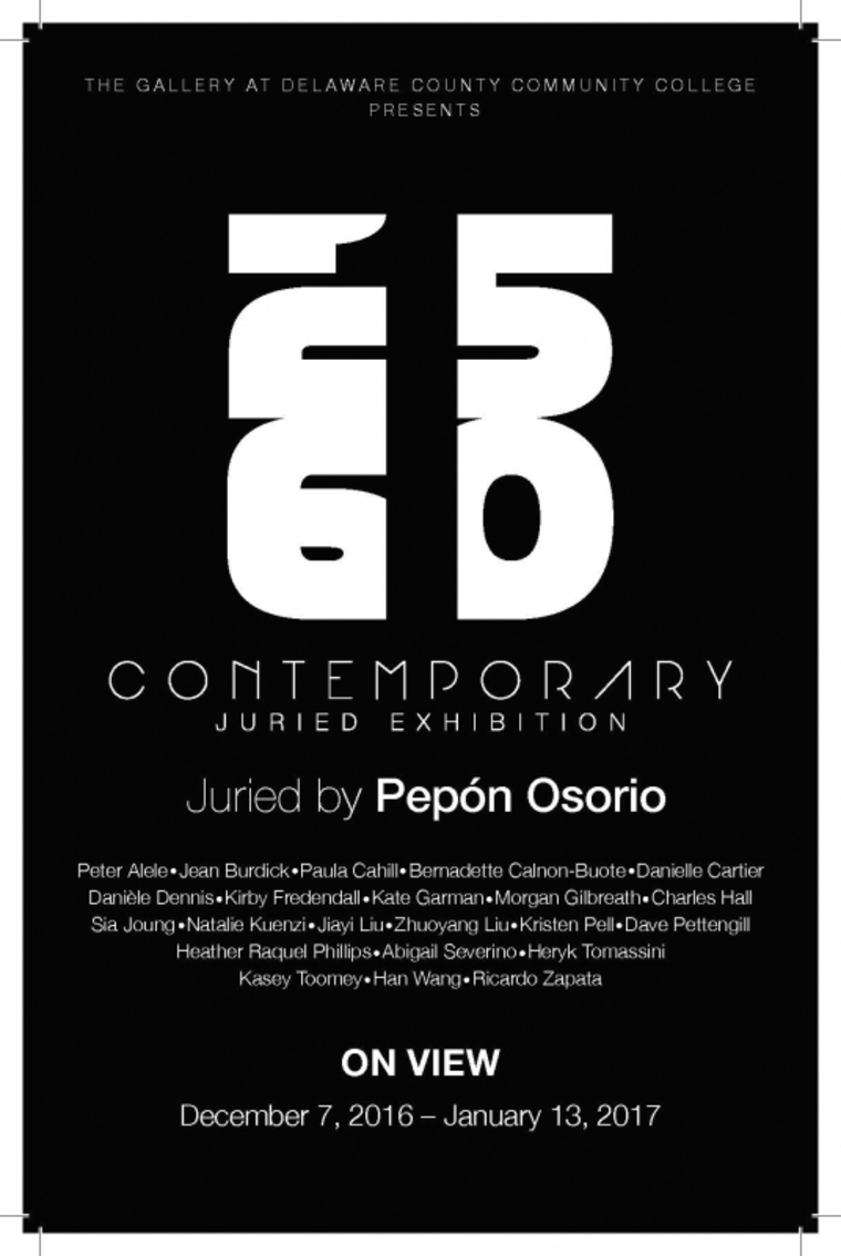 Poster for 215610 Juried Exhibition. Juried by Pepon Osorio