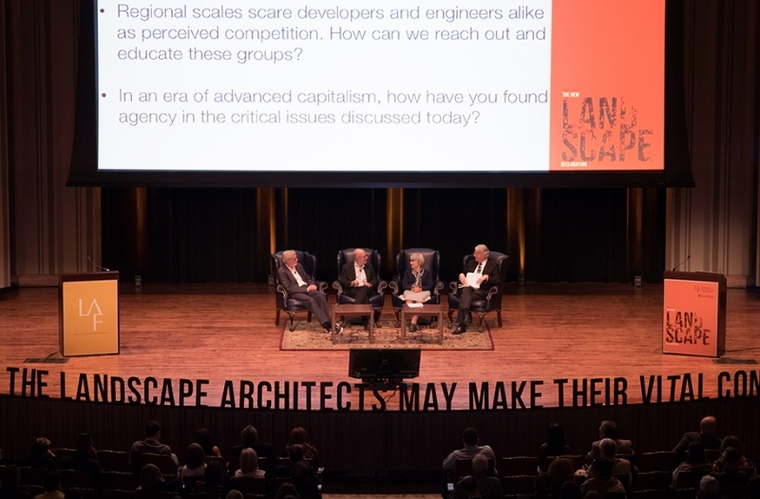 Panel At The Landscape Architecture Foundation Summit at Penn, June 2016