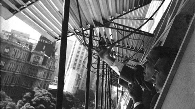 Marcelo and Milton Roberto at the Edificio Marques do Herval, Rio de Janeiro, 1952