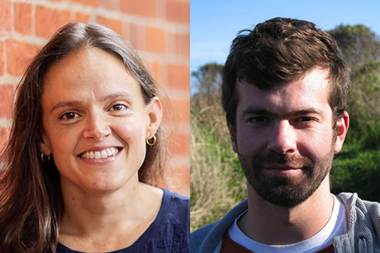 Francesca Russello Ammon and Erick Guerra, newly-tenured associate professors at PennDesign